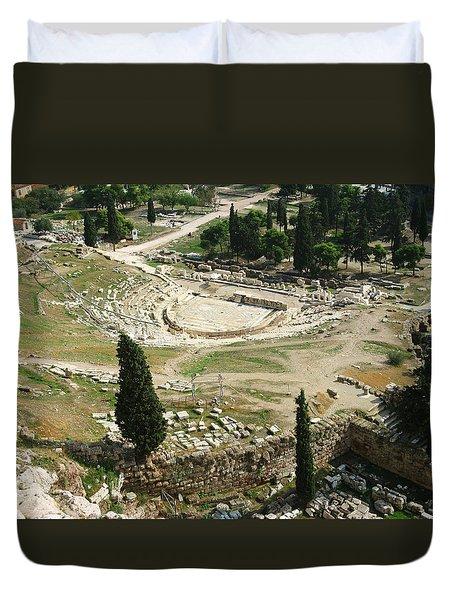 Dionysus Amphitheater Duvet Cover