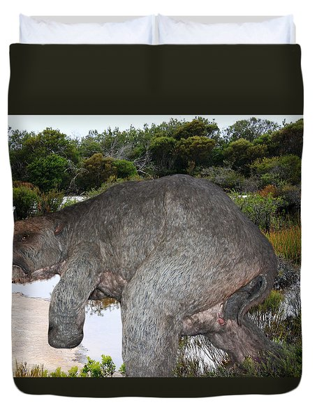 Duvet Cover featuring the photograph Diprotodon by Miroslava Jurcik