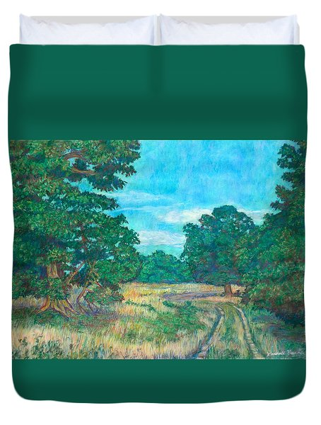 Duvet Cover featuring the painting Dirt Road Near Rock Castle Gorge by Kendall Kessler