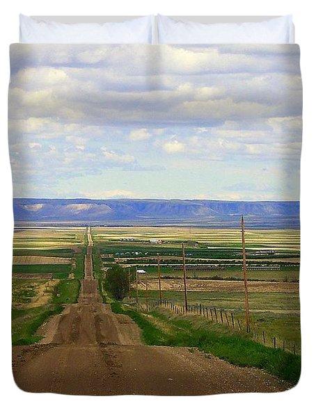 Dirt Road To Forever Duvet Cover