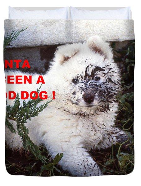 Dirty Dog Christmas Card Duvet Cover