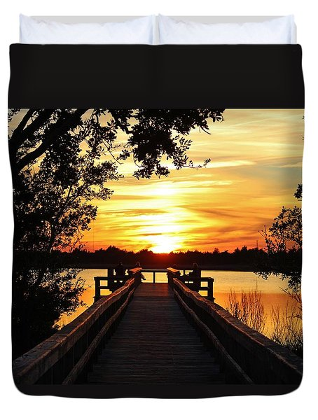 Disappearing Sun  Duvet Cover