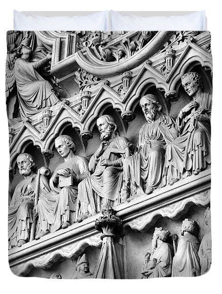 Disciples In Stone Duvet Cover