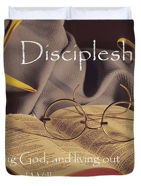 Discipleship Duvet Cover by Sharon Elliott