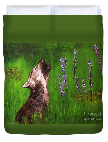 Discovering His Voice Duvet Cover by Bev Conover
