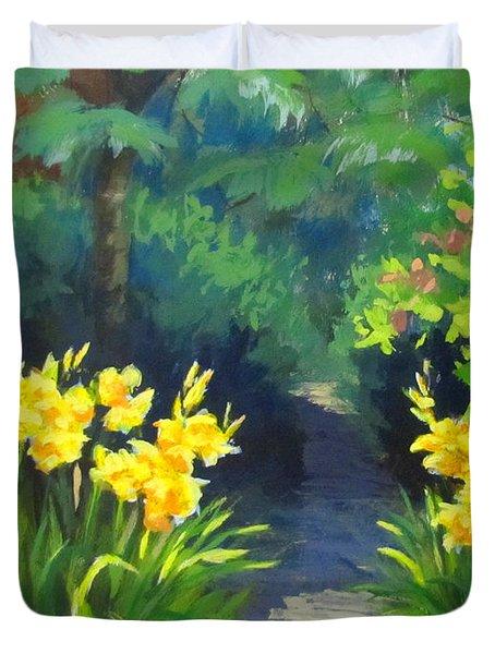 Discovery Garden Duvet Cover by Karen Ilari