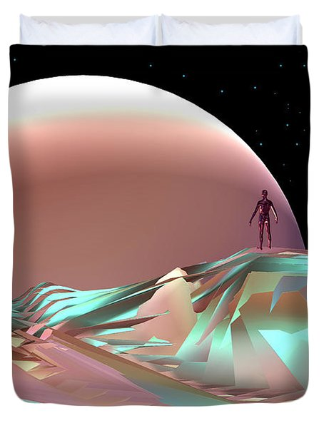 Duvet Cover featuring the digital art Discovery by Steven Lebron Langston