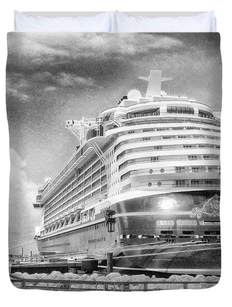 Duvet Cover featuring the photograph Disney Fantasy by Howard Salmon