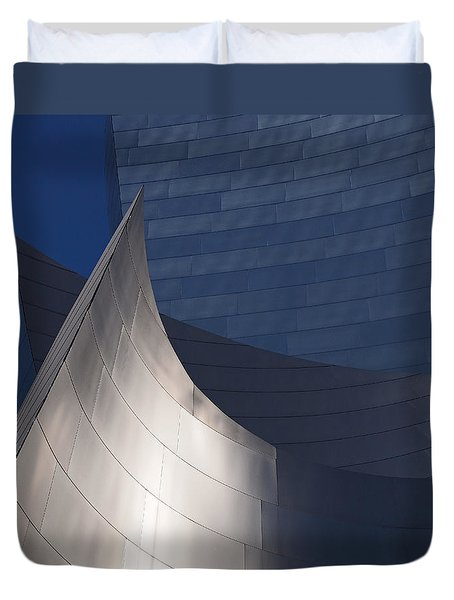 Disney Hall Abstract Duvet Cover by Rona Black