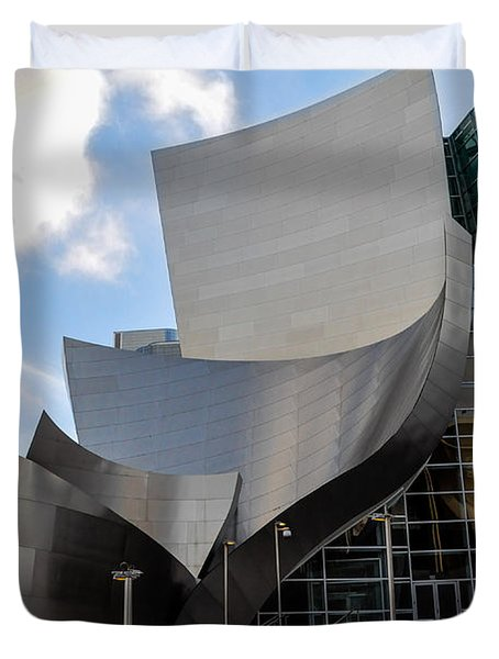Duvet Cover featuring the photograph Disney Hall by Gandz Photography