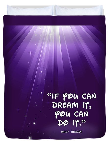 Disney's Dream It Duvet Cover