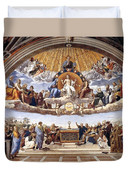Disputation Of The Eucharist  Duvet Cover
