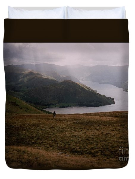 Duvet Cover featuring the photograph Distant Hills Cumbria by John Williams