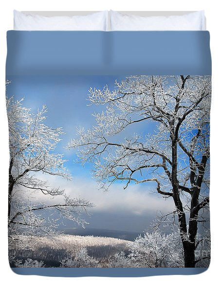 Distant Storms Duvet Cover by Lois Bryan
