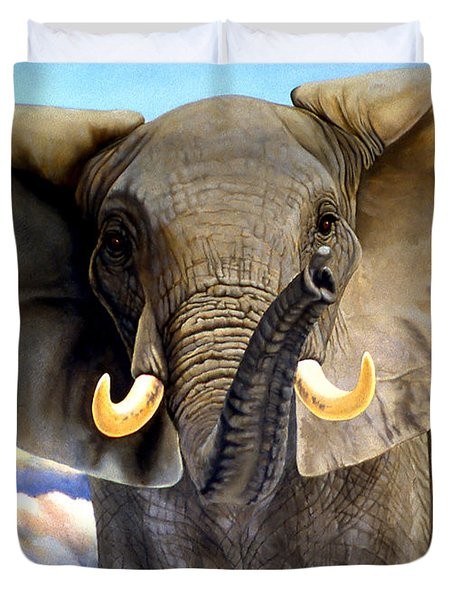 Da108 Distant Thunder By Daniel Adams Duvet Cover