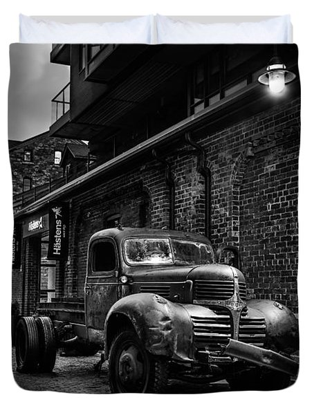 Distillery District Toronto Mono Duvet Cover