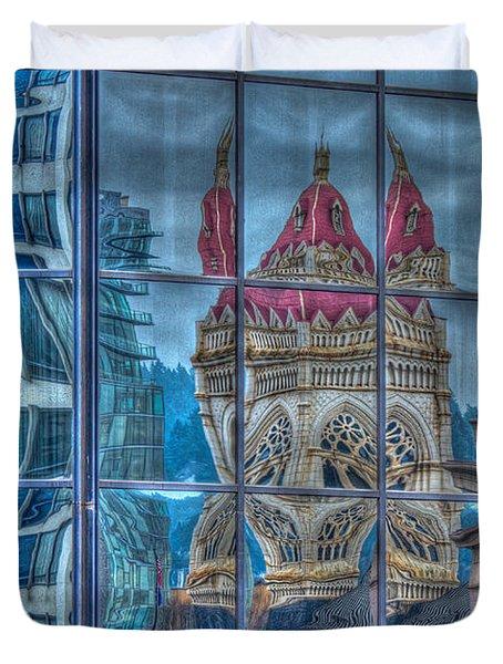Distorted Portland Duvet Cover