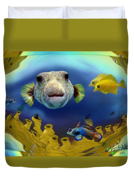 Diver's Perspective Duvet Cover
