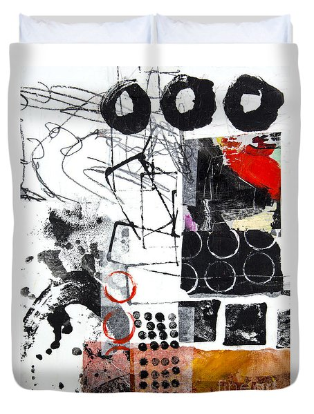 Duvet Cover featuring the mixed media Diversity by Elena Nosyreva