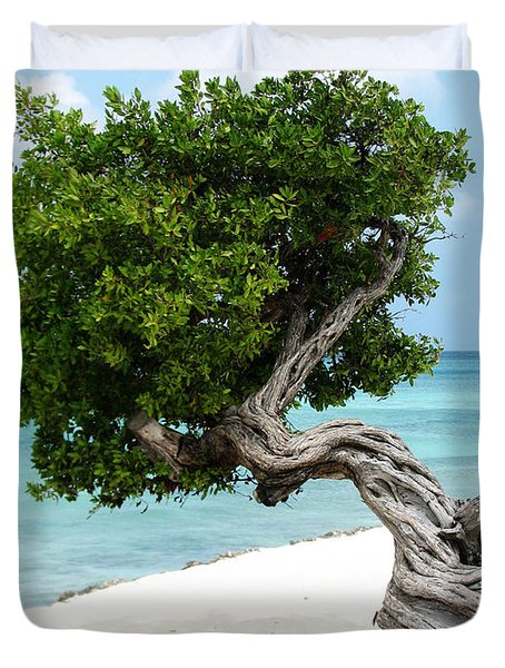 Divi Divi Tree In Aruba Duvet Cover