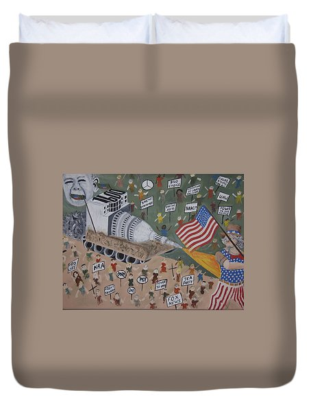 Divided We Stand Duvet Cover by Dean Stephens
