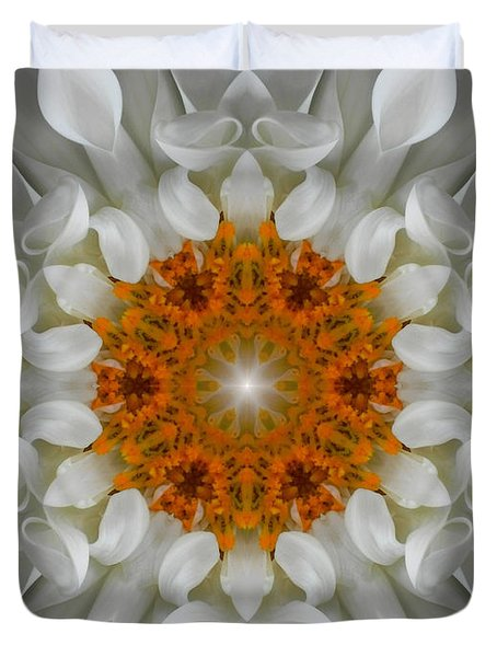 Divine Love Flower Mandala Duvet Cover
