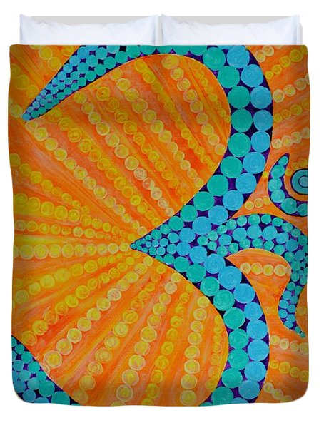 Divine Radiance Duvet Cover by Sonali Gangane