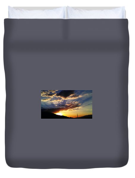 Divine Sunset Duvet Cover by Chris Tarpening