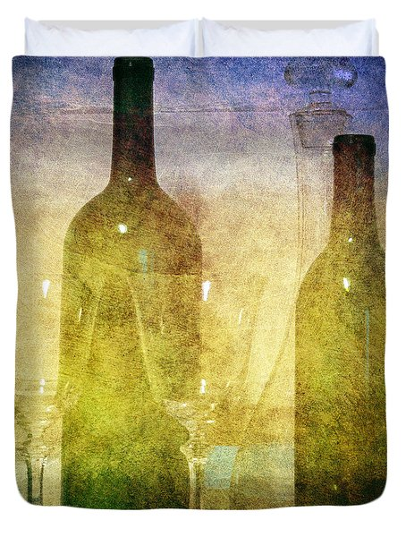 Duvet Cover featuring the photograph Divine Wine by Judy Hall-Folde