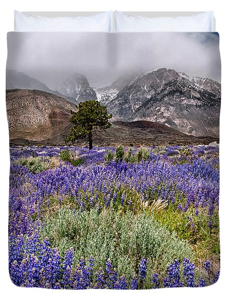 Division Creek Lupine Duvet Cover