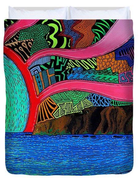 Dizzy Dana Point Duvet Cover by Sam Bernal
