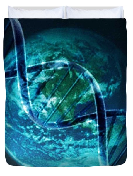 Dna Globe Duvet Cover by PainterArtist FIN