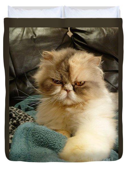 Do I Look Amused? Duvet Cover by Vicki Spindler