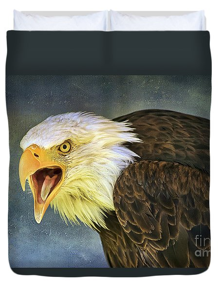 Duvet Cover featuring the photograph Do It Or Else by Teresa Zieba