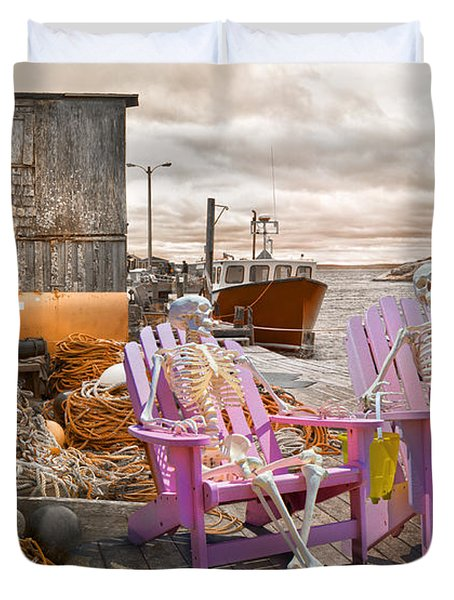 Dock Buddies Duvet Cover