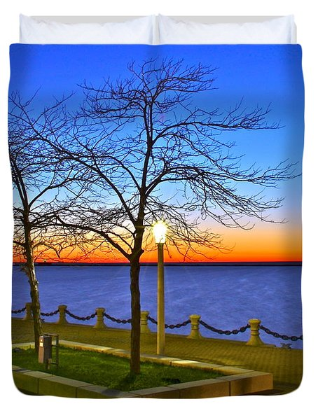 Dock Of The Bay Duvet Cover by Frozen in Time Fine Art Photography