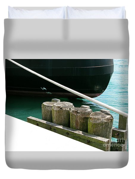 Docked Duvet Cover by Ann Horn
