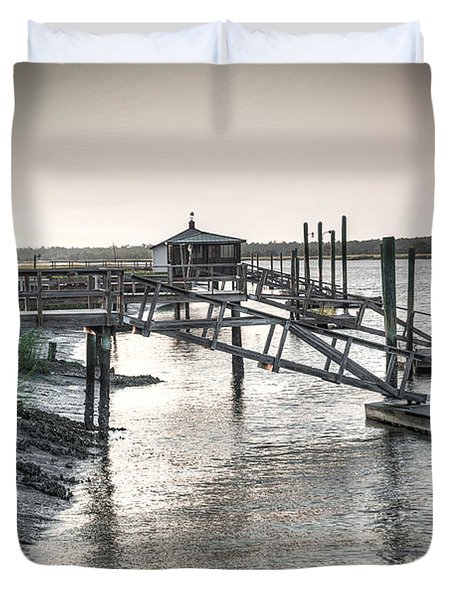 Docks Of The Bull River Duvet Cover