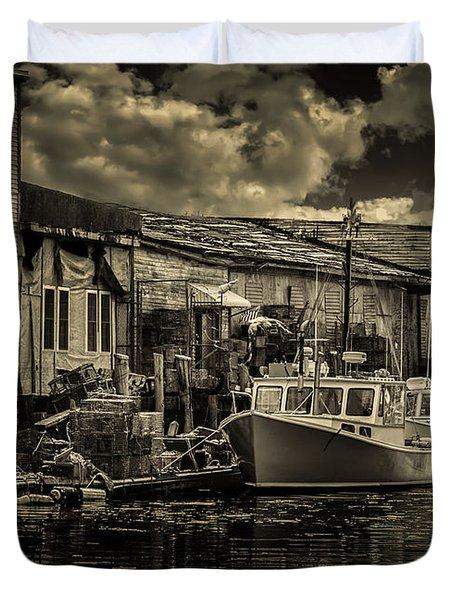 Dockside  Duvet Cover by Bob Orsillo
