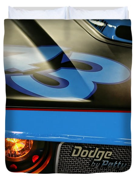 Duvet Cover featuring the photograph Dodge By Petty by Gordon Dean II