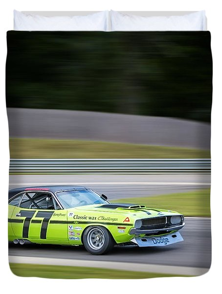 Dodge Challenger Duvet Cover by Bill Wakeley