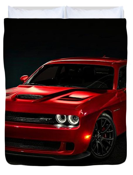 Dodge Challenger S R T Hellcat Duvet Cover by Movie Poster Prints