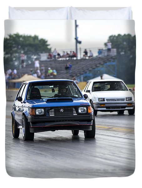 Dodge Omni Glh Vs Rwd Dodge Shadow - Without Times Duvet Cover
