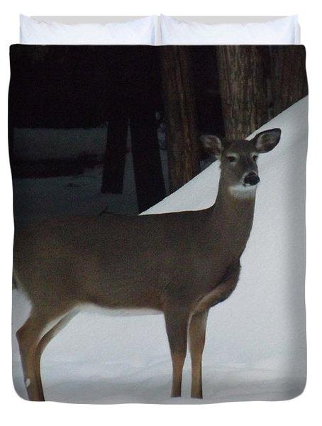 Doe A Deer Duvet Cover by Brenda Brown