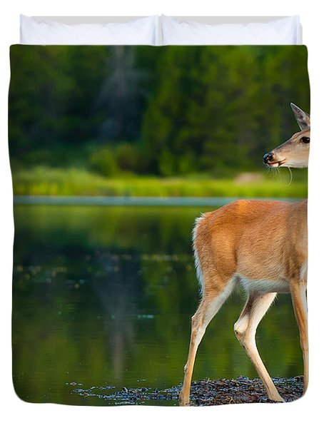 Doe Duvet Cover by Sebastian Musial