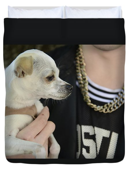 Dog And True Friendship 1 Duvet Cover