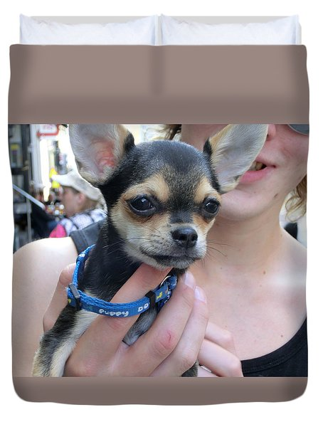 Duvet Cover featuring the photograph Dog And True Friendship 7 by Teo SITCHET-KANDA