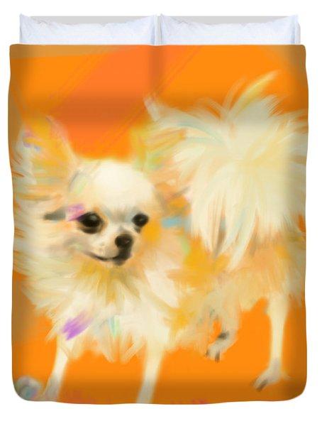 Dog Chihuahua Orange Duvet Cover