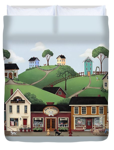 Dog Days Of Summer Duvet Cover by Catherine Holman