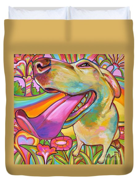 Duvet Cover featuring the painting Dog Daze Of Summer by Robert Phelps